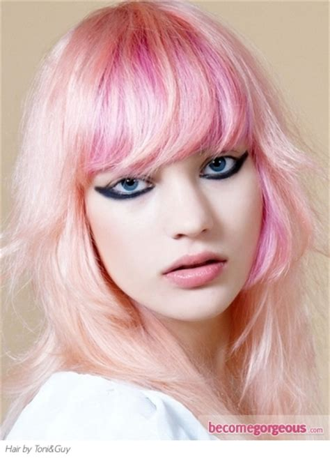 toni and guy color styles funky pink hair color idea punk girl hairstyles pictures