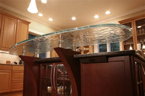 Floating Bar Top by Floating Glass Bar Top Transitional Kitchen