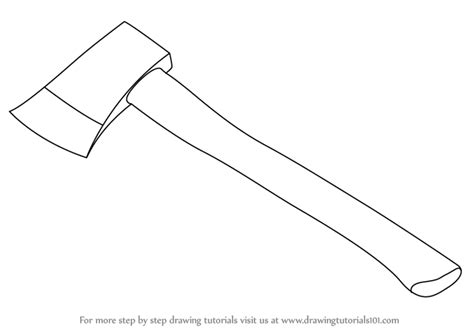 how to sketch learn how to draw an axe tools step by step drawing tutorials