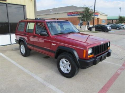 find used 1998 jeep xj 2wd 4 door low mileage
