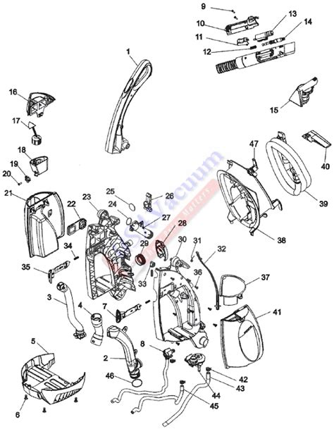 hoover carpet cleaner parts diagram hoover f6207 steamvac agility parts usa vacuum
