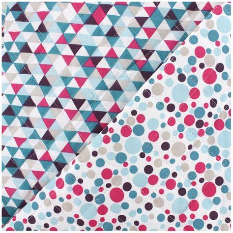 Quilted Cotton Fabric by Quilted Cotton Fabric Trimix M 233 Lo Teal Fuchsia X 10cm