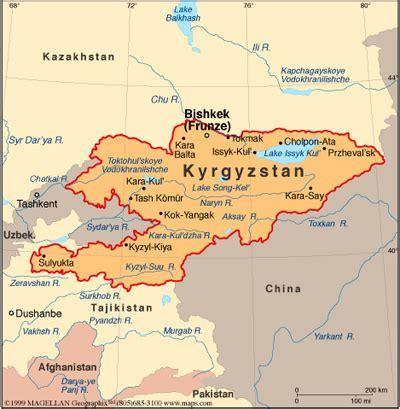 kirgistan map kirgistan karte krieg