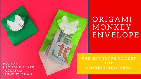 make new year money envelope new year craft origami monkey envelope how to