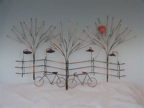 bikes and trees metal sculpture bike wall decormetal