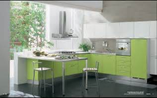 Interior Designing For Kitchen Modern Green Kitchen Interior Design Stylehomes Net