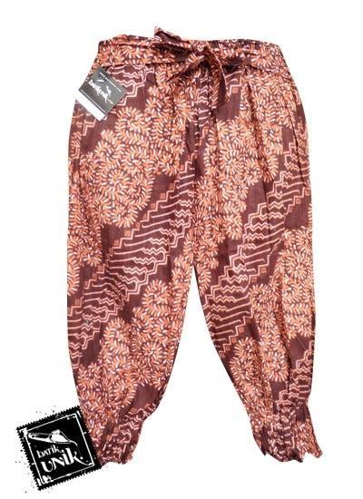 Aladin Pendek Motif batik celana jual batik celana murah toko batik celana