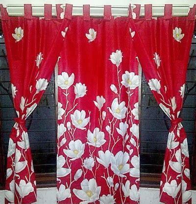 Bordir Tulip Kecil Bahan Katun batik sae gorden katun murah 95rb m