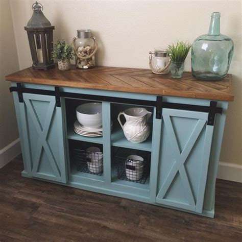 barn door console table it s in the details chevron top sliding door console by