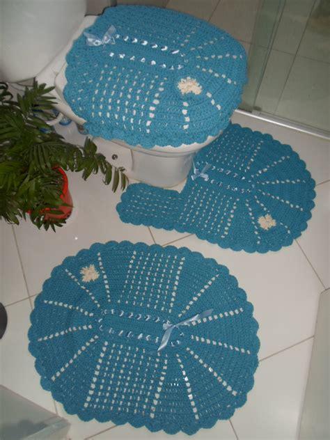 jogo de almofada de barbante jogo de banheiro de barbante em croche artes da vida 2