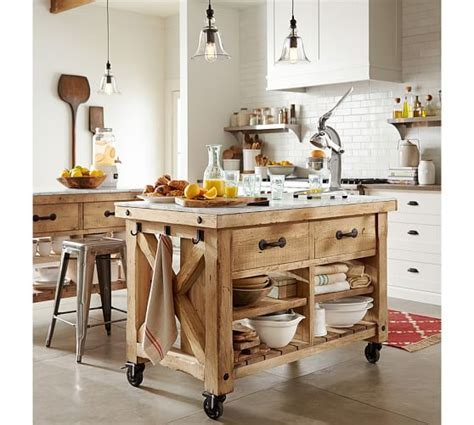 pottery barn kitchen furniture hamilton reclaimed wood marble top kitchen island