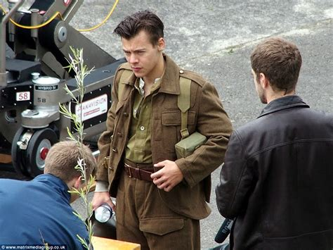 code film dunkirk harry styles shows off his new 1940s style military cut on