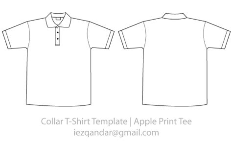 Vector Collar Tee Template 123freevectors T Shirt Template Maker