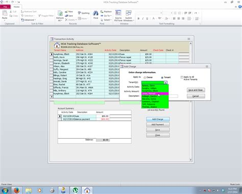 screenshot sofware absensi software absensi hoa property management database software system for