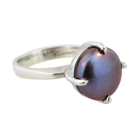 sterling silver freshwater pearl ring cameron jewellery
