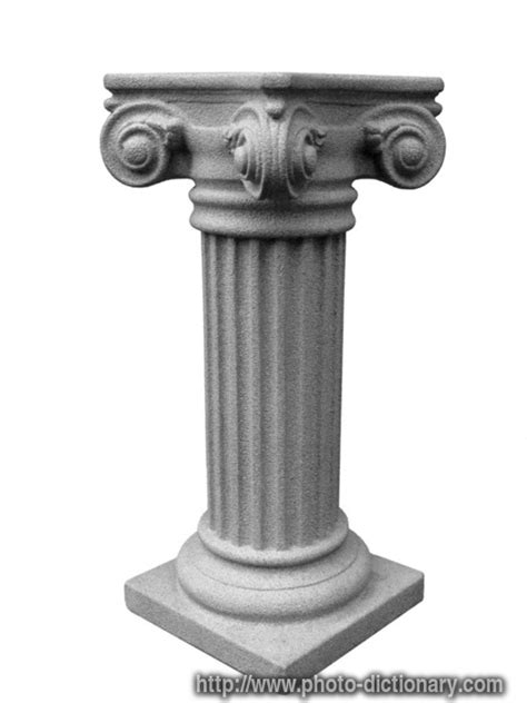 Meaning Of Pedestal pedestal photo picture definition at photo dictionary pedestal word and phrase