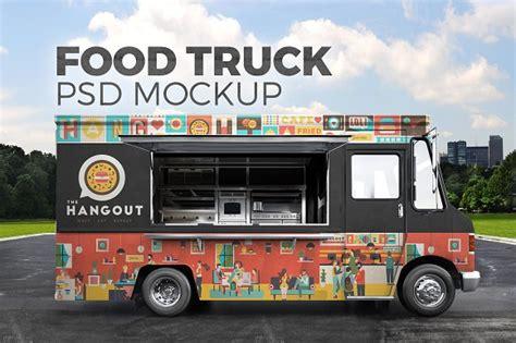 burger food truck design food truck psd mockup product mockups creative market