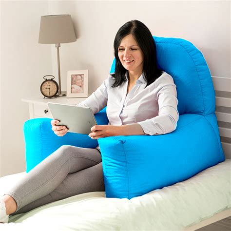 pillows for watching tv in bed chloe bed reading bean bag cushion arm rest back support