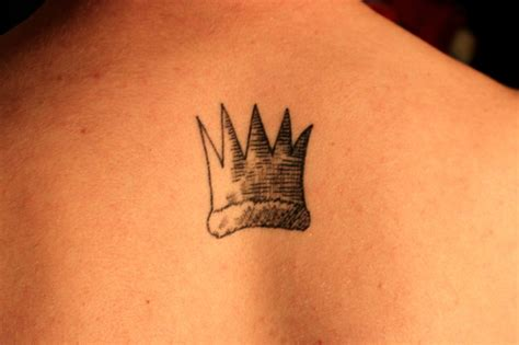 painted bird tattoo max s crown from where the things are done by kc at