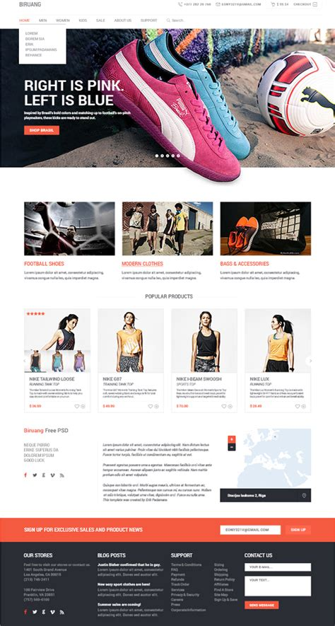html use 20 best free psd ecommerce web templates 2014 or