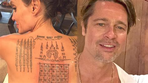 brad pitt new tattoo and brad pitt used the same ink to