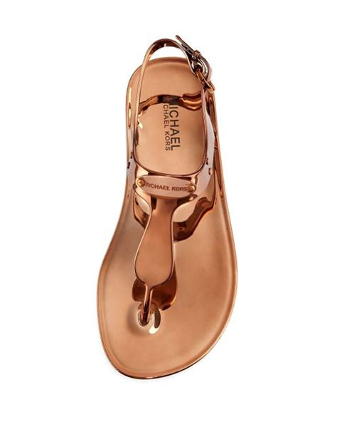 Ready Mk Jelly michael michael kors mk plate jelly sandals in brown