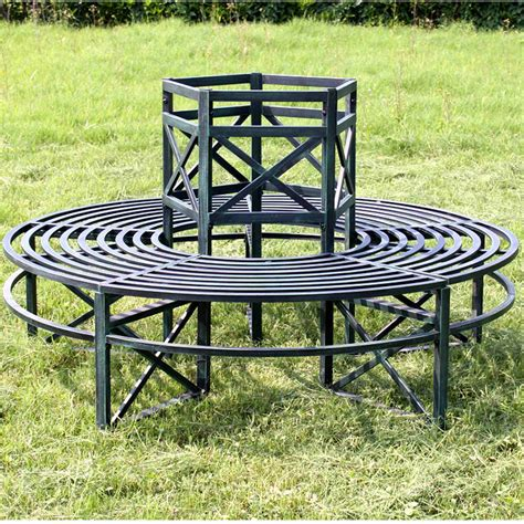 metal circular tree bench garden tree seat circular 360 degrees outdoor bench steel