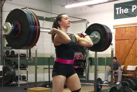 double bodyweight bench press watch camille leblanc bazinet clean jerk double