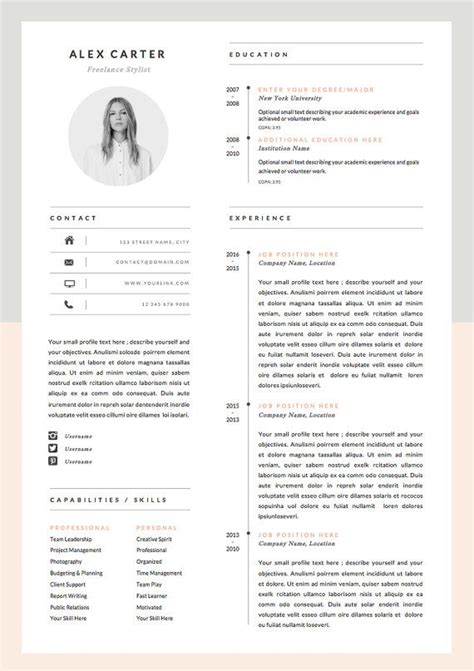 Design Resume Template by 25 Best Ideas About Graphic Designer Resume On