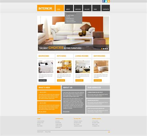 responsive layout template free download interior design responsive website template 42122