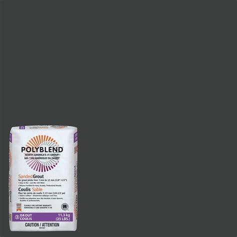 custom building products 60 charcoal polyblend sanded