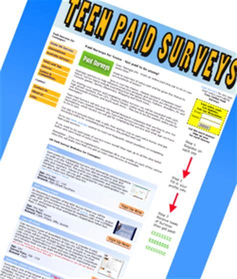 Teenage Surveys For Money - teen paid surveys paid survey hints and tips teen paid surveys