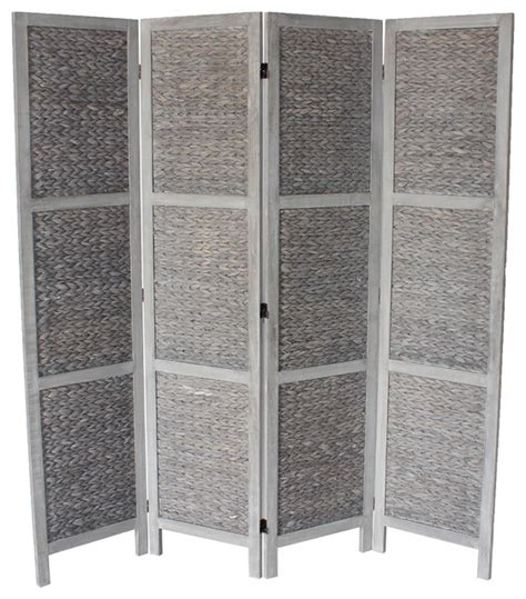 Grey Room Divider Beck 4 Panel Room Divider Gray Contemporary Screens And Room Dividers By Milton Greens