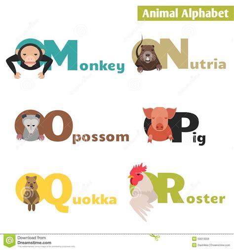 animal alphabet letters q u vector vectores en stock animal alphabet stock vector image of animal letter
