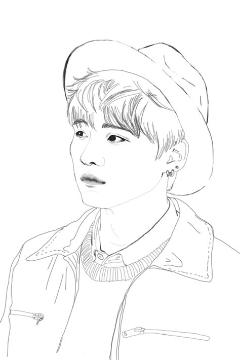 Bts V Coloring Pages by Bts Kpop Coloring Pages Coloring Pages
