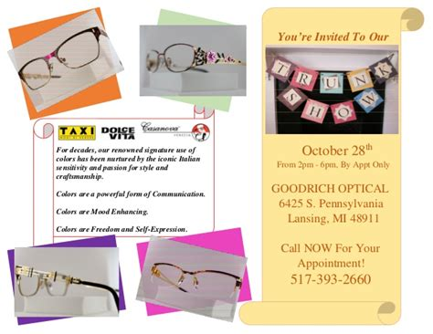 Standford Mba Invitations by Trunk Show Invitation At Goodrich Optical