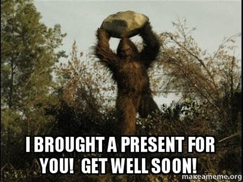 Get Well Meme - i brought a present for you get well soon make a meme