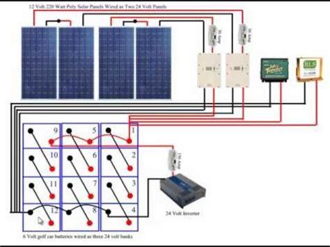 diy solar panel system battery bank wiring tech