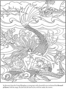 mermaid colouring pages for adults enchanted coloring book