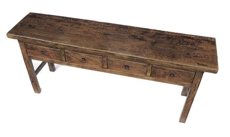 vintage console sofa table with drawers