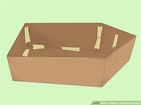 3 ways to build a cardboard boat wikihow - How To Build A Boat Out Of Cardboard