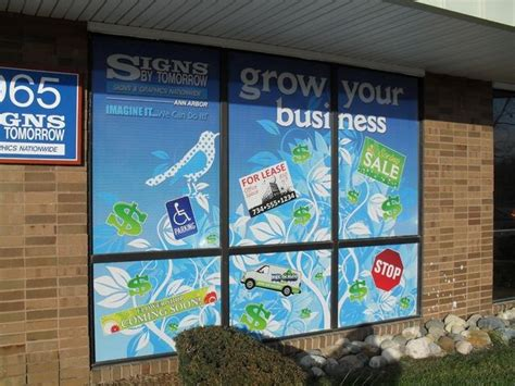 outdoor vinyl graphics lettering signs  tomorrow ann