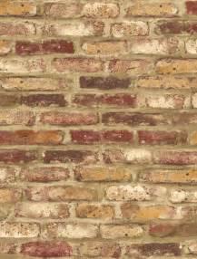 wallpaper designer red orange cream and tan tuscan faux brick wall ebay