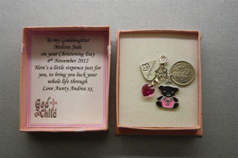 godson gifts personalised lucky sixpence keepsake christening day gift