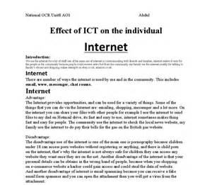 argumentative essay on internet