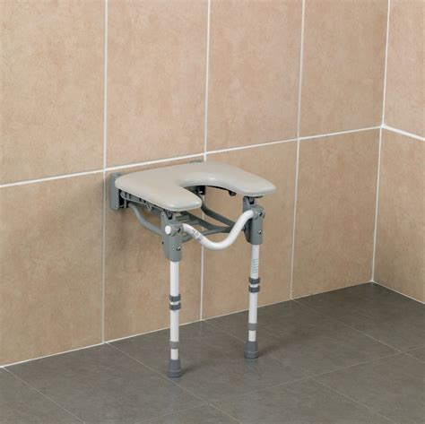 wall mounted padded shower bench shower seat tooting wall mounted padded horseshoe seat