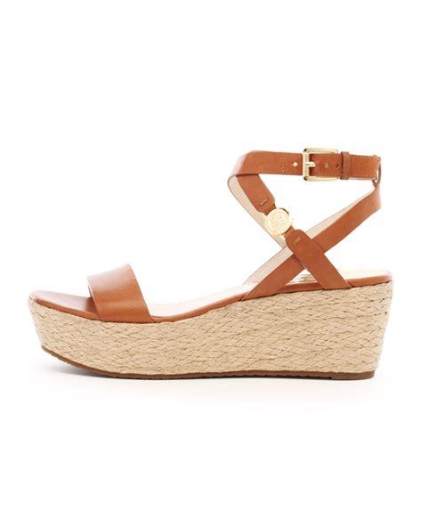 michael kors sandals for michael michael kors jalita platform sandal in brown