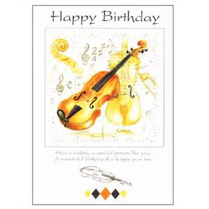 happy birthday card violin design sheet from exchange
