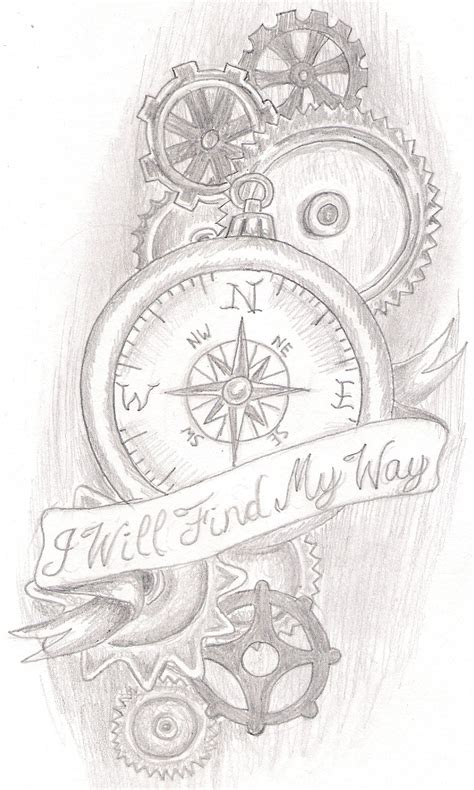 compass tattoo with gears steam punk compass by jkucinic on deviantart