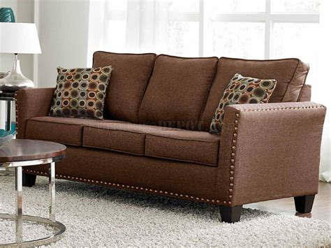 3052 sofa in brown chenille fabric w options